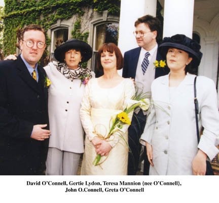 David O'Connell, Gertie Lydon, Teresa Mannion, John O'Connell and Greta O'Connell
