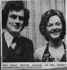 Press cutting 1975. Oughterard G.A.A. Club dinner