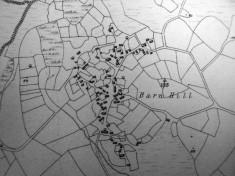 Map c.1800. Detail, Barn Hill