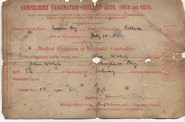 Compulsory Vaccination Certificate 1906