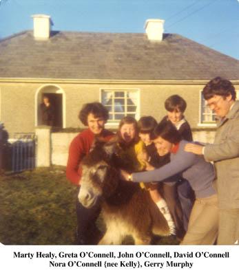 Marty Healy, Greta, John David and Nora O'Connell. Jerry Murphy