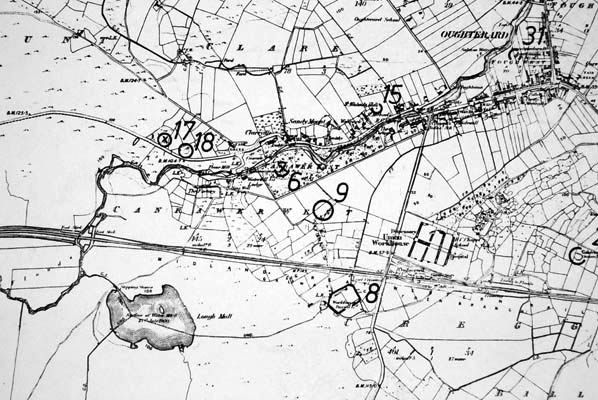 Monument map 1930. Detail, Clareville