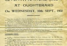 Oughterard Show programme 1930