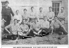 Oughterard Newsletter.  Vintage football team 1894-1895
