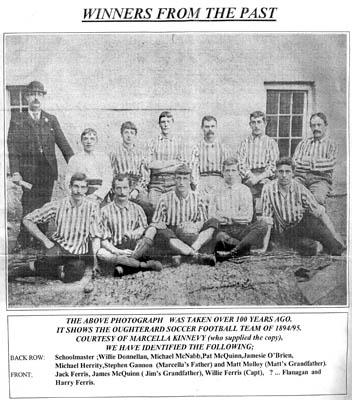 Oughterard Newsletter.  Vintage football team 1894-1895