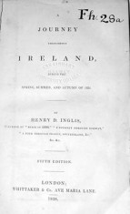 A Journey Throughout Ireland. Henry D. Inglis 1838