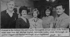 Press cutting 1991. Group Photograph