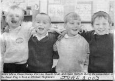 Press cutting 2002. School green flag presentation