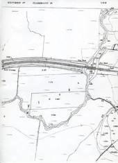 Map 1898. Detail railway line, Claremount