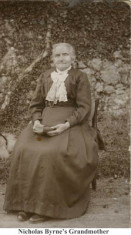 The grandmother of Nicholas Byrne, Clareville, Oughterard