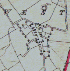 Townland map c.1859. Detail, Canrawer West