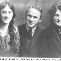 Oughterard Newsletter. Julia Byrne, Jim Egan, Madge Byrne