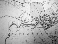 Map c.1800. Detail, Canrawer West