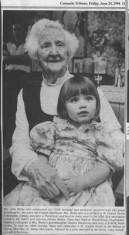 Press cutting 1994. Julia Welby, Parrishtown