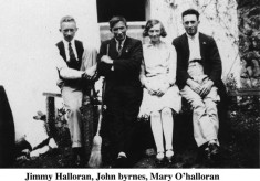 Jimmie O'Halloran, John Byrne and Mary O'Halloran