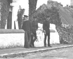 R.I.C. Officers, at Door of Barracks, Camp Street, Oughterard