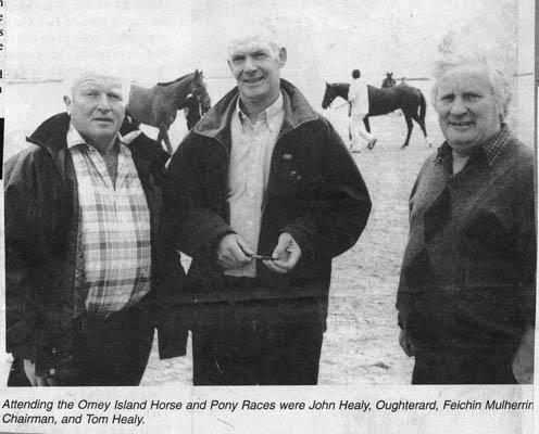 Press cutting. Omey Island Races