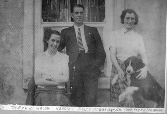 Josephine,Harry and Agnes Walsh, Magherabeg, Oughterard