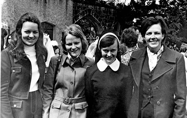 Mary Kyne, on the left, with friends
