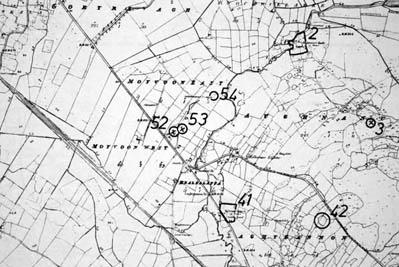 Monument map 1930. Detail, Bealnalappa