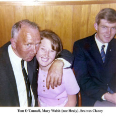 Tom O'Connell, Mary Walsh and Seamus Clancy