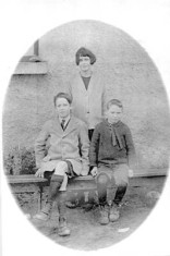 Harry, Agnes and Vincent Walsh, Magherabeg. c.1930