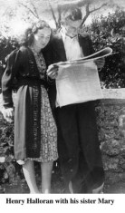 Henry Halloran and his sister Mary