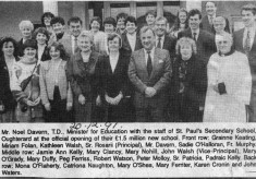 Press cutting 1991. St Paul's secondary school opening