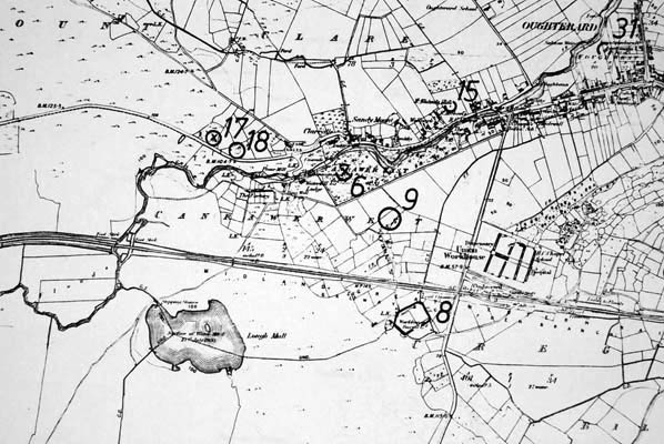 Monument map 1930. Detail, Canrawer West