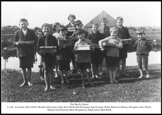 Oughterard Mayfly  Market. c1940. Postcard