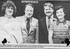 Press cutting 1982 Connemara Gateway Hotel