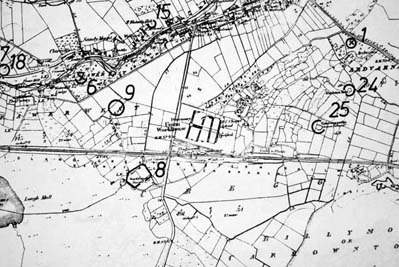Monument map 1930. Detail, Oughterard Poor Law Union Workhouse