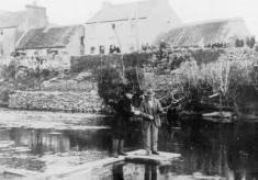 Fishing at the bridge, Oughterard