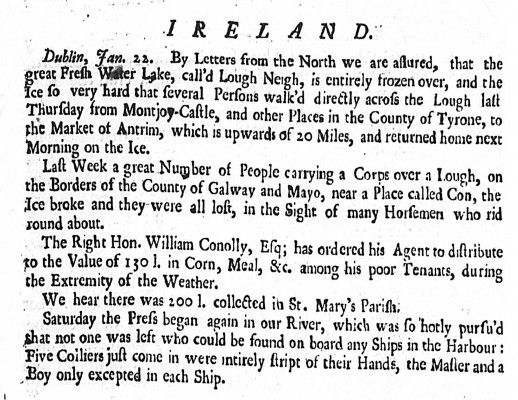 Drowning  Cong January 1739 Derby Mercury - 1739 | www.britishnewspaperarchives.co.uk
