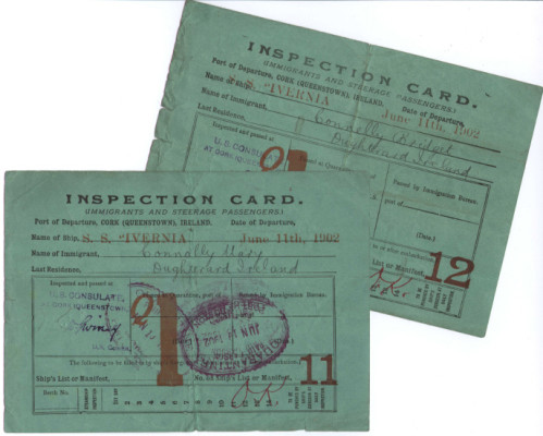 Oughterard Immigrant Inspection Cards