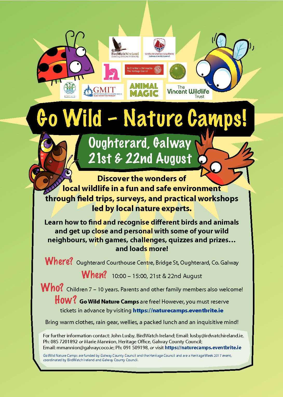 Go Wild Nature Camps Oughterard August 21st 22nd 2017