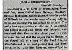 Freemans Journal,  Tuesday, November 1881