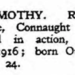 Remembering Men from Oughterard that died in WW1