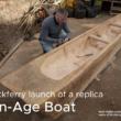 Knockferry Launch of a replica Iron Age Boat