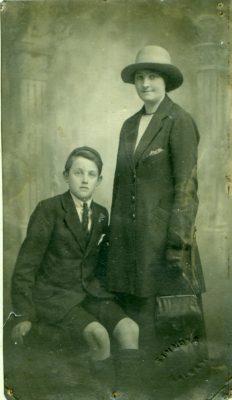 Edward Faherty with his mother Ellen (Staunton) Faherty circa 1922 | Padraig Faherty