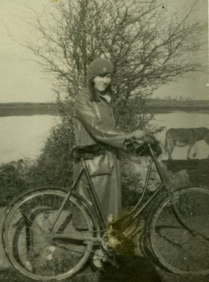 Unknown Girl with bicycle | Padraig Faherty