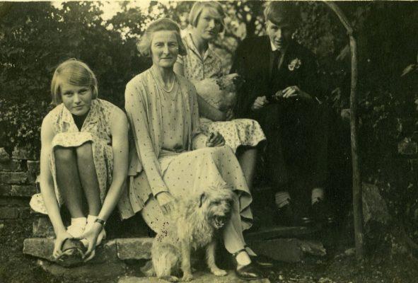 Kathleen Jack Maloney  with her mother Evelyn Nichols Jack,  sister Norah Jack & her brother Desmond Hugh Morton Jack 1916-1941 | Padraig Faherty