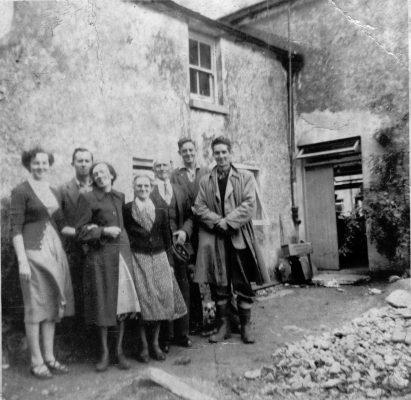 Mary Faherty, Tom O'Connor, Winifred (O'Connor) Faherty, Bridget 'Mod' (Fahy) O'Connor, Jimmy Higgins, Padraig Faherty & Johnny O'Connor Camp Street 1952 | Padraig Faherty