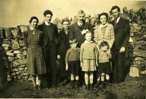 Julia (O'Connor) Goodall, Jim O'Connor, Bridget 'Mod' & Laurence O'Connor, Winifred (O'Connor) Faherty, Edward Faherty. Front: Padraig, Mary & Lal Faherty | Padraig Faherty