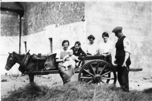 3 Generations Taken in 1935 Winifred (O'Connor) Faherty holding baby Mary Faherty, Jim O'Connor, Bridget Mod (Fahy) O'Connor, unknown & Laurence O'Connor | Padraig Faherty