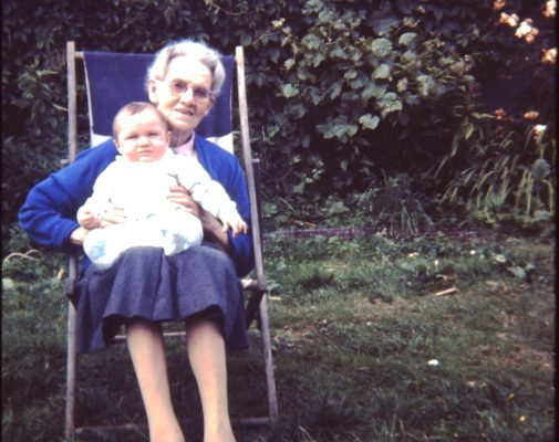 Mod (Bridget O'Connor ) with great granddaughter Ann Faherty 1965