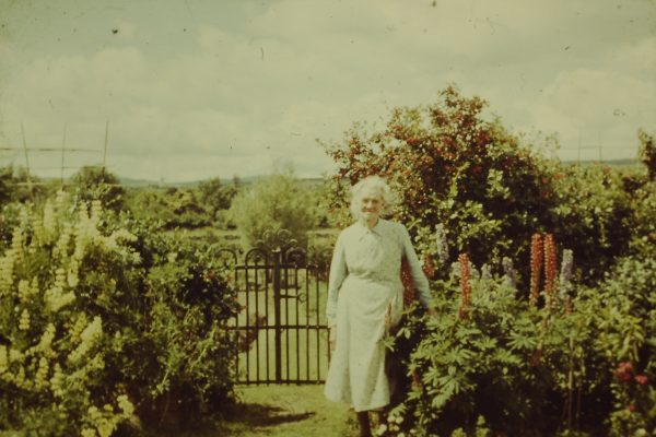 Bridget 'Mod' (Fahy) O'Connor in her back garden in camp street (circa mid 1960s) | Padraig Faherty