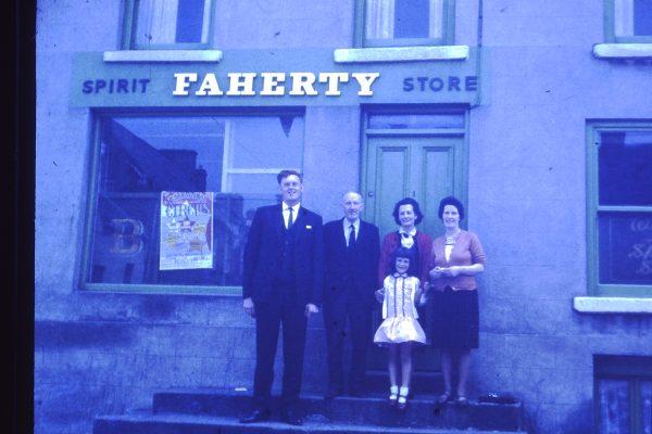Padraig Faherty visiting his cousins in Kilkeel Co. Down. Hugh Faherty, Hugh's wife Angela, sister Clare & daughter Bronagh 1960's | Padraig Faherty
