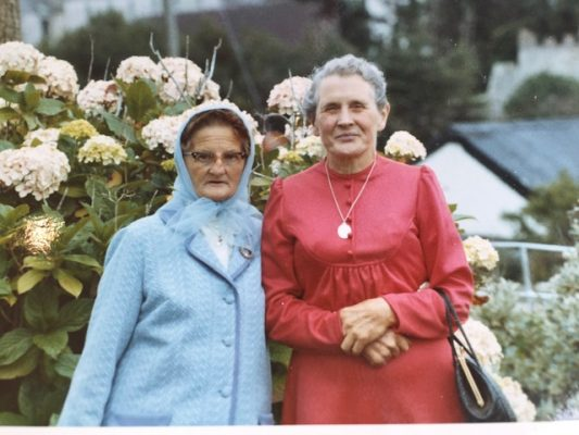 Diana (in red dress). She was the last of the family to live in the house.  | Mary Pleyo