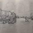 Drawing of Camp Street late 1950's/early 1960's